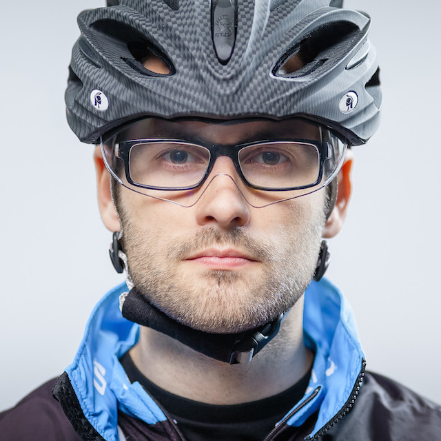 Dux Helm Premium Retractable Lens Cycling Helmet in Carbon Sliver_2