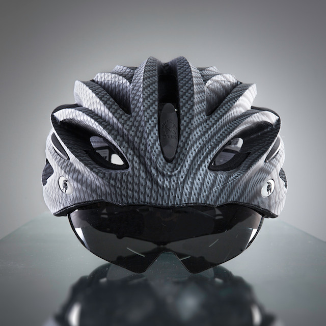 Dux Helm Premium Retractable Lens Cycling Helmet in Carbon Sliver_6