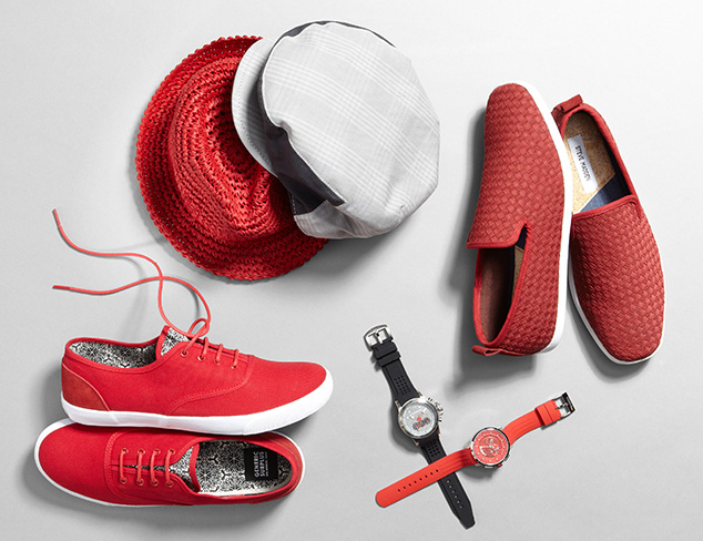Pop of Color: Red & Grey at MYHABIT