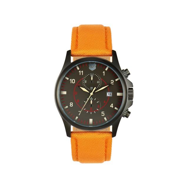 Andrew Marc Fly Military Men's Watch // Orange