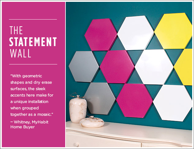 The Statement Wall: Nine6 Design DIY Wall Art at MYHABIT