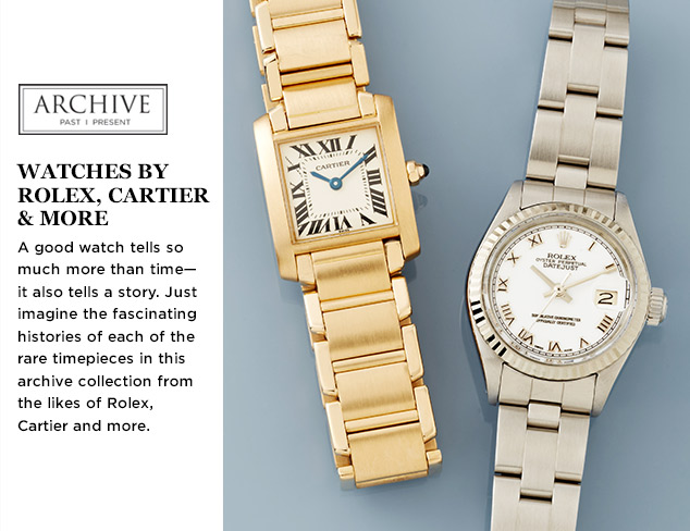 ARCHIVE: Watches by Rolex, Cartier & More at MYHABIT