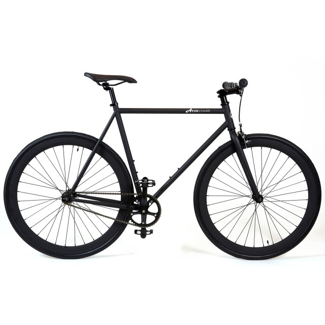 ATIR Cycles Single Speed / Fixed Gear Urban Road Bike in Matte Black