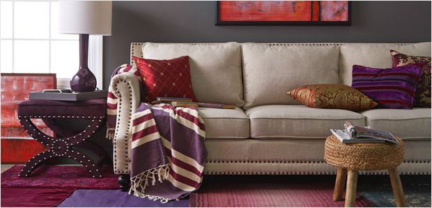 Color Crush: Add Plum & Red at Home at Rue La La