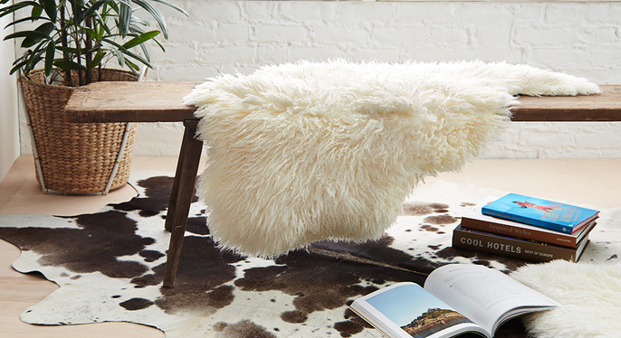 Cowhides & Sheepskins by Natural at Gilt