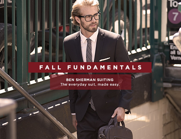 Fall Fundamentals: Ben Sherman Suiting at MYHABIT
