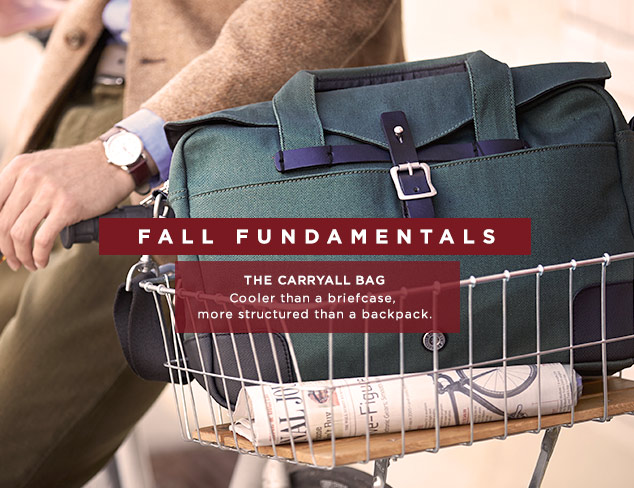 Fall Fundamentals: The Carryall Bag at MYHABIT