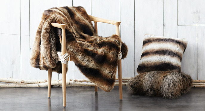 Faux Fur Pillows & Throws at Gilt