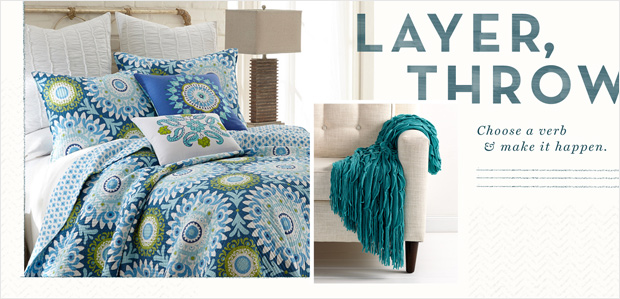 Layer the Bed with Colorful Quilts & Toasty Throws at Rue La La