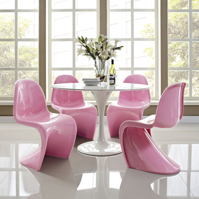 Image result for bright pink mid-century modern furniture