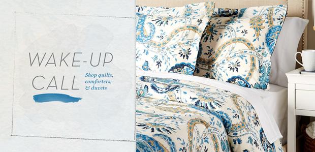 Make a Pretty Bed with Quilts, Duvets, & More at Rue La La