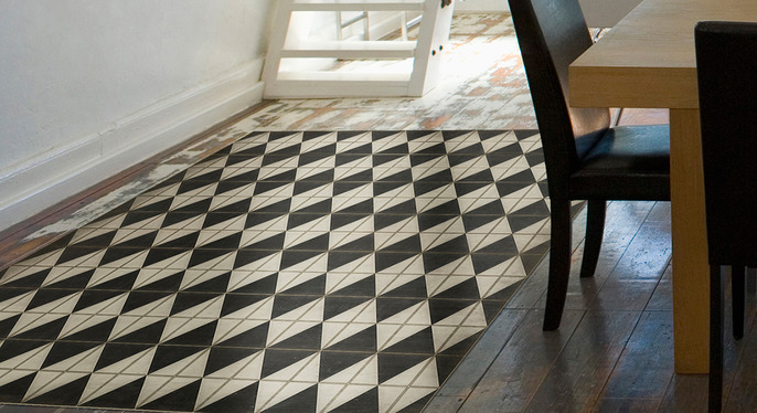 Retro Trend: Vinyl Floor Coverings at Gilt
