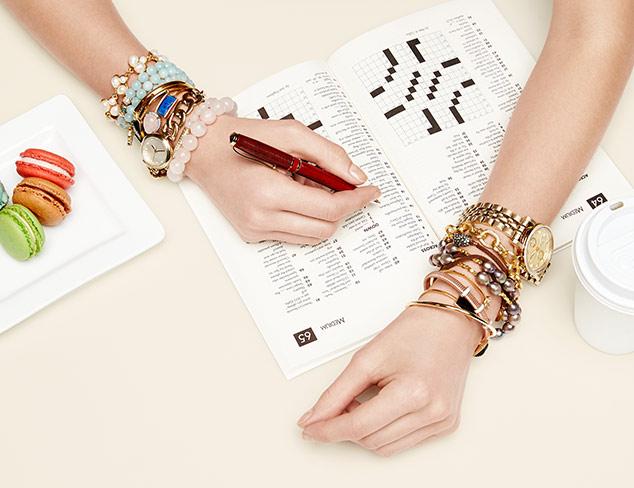 Stacked Wrist: Bracelets & Watches at MYHABIT