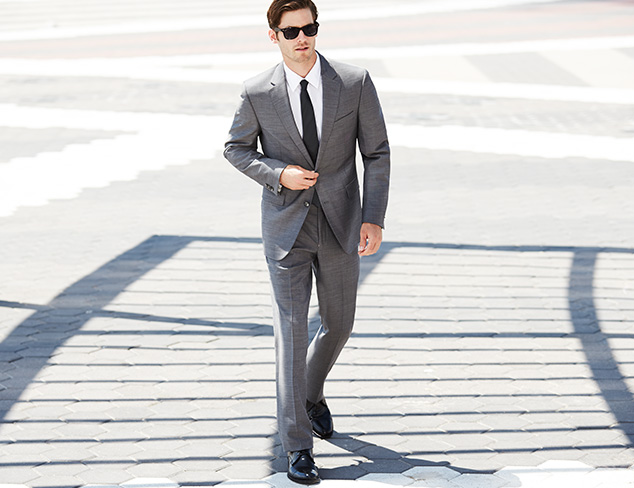 Suiting Selections: The Grey Suit at MYHABIT