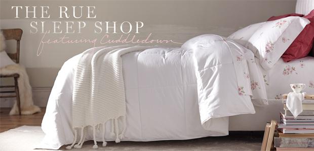 The Rue Sleep Shop Featuring Cuddledown at Rue La La