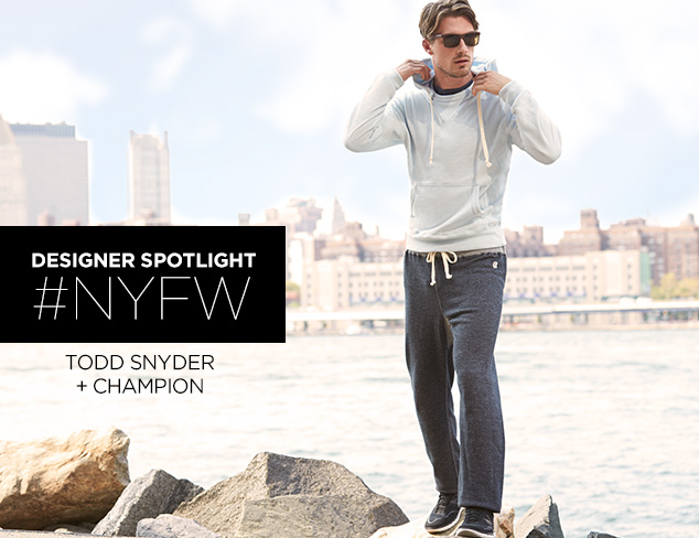 Todd Snyder + Champion at MYHABIT