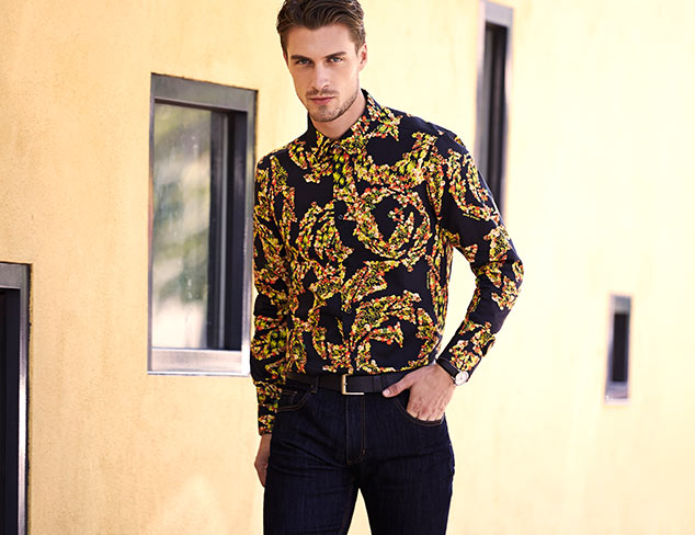 Versace Jeans Long Sleeve Allover Print Shirt