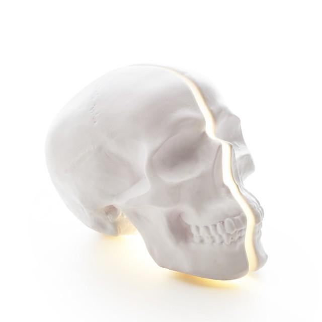 Vion Design Yorick Split Skull Lamp in white