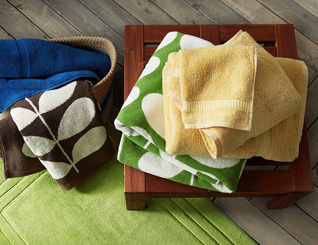 Color Splash: Towels & Bathroom Accents at MYHABIT