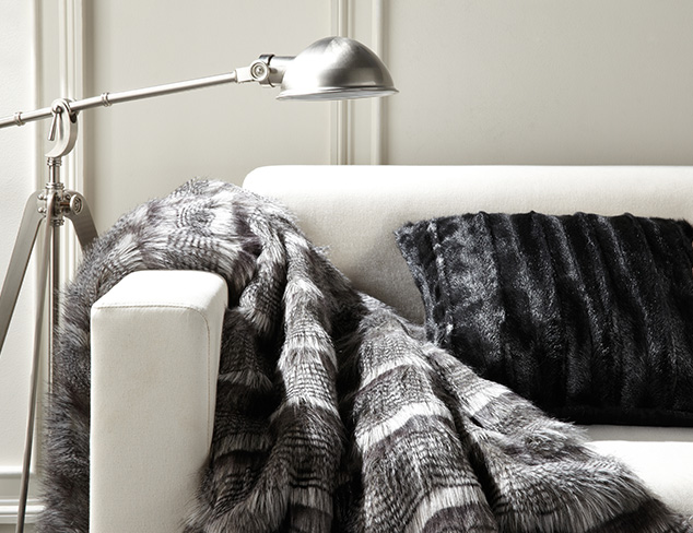 Fall-Ready: Furry Pillows & Throws at MYHABIT