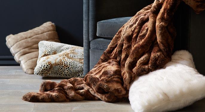 Faux Fur Throws & Pillows at Gilt
