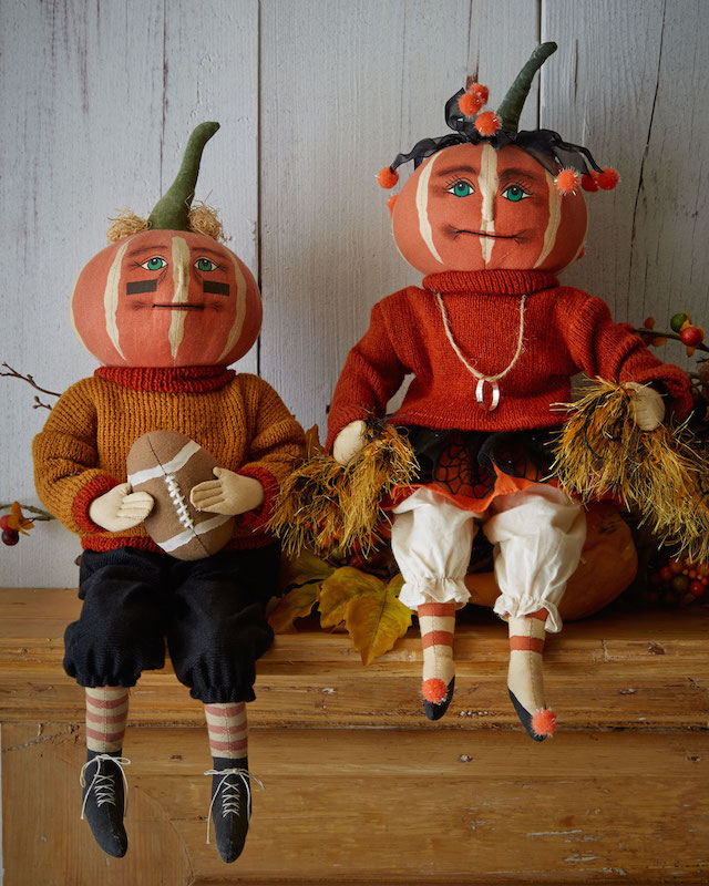 Gathered Traditions by Joe Spencer Pumpkin Doll Decorations_3