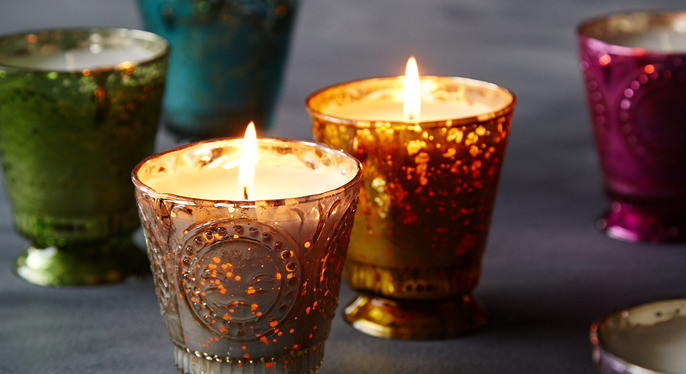 Metallic Candles at Gilt