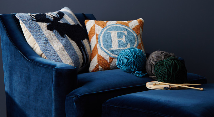 Not Your Grandma's Needlepoint Pillows at Gilt