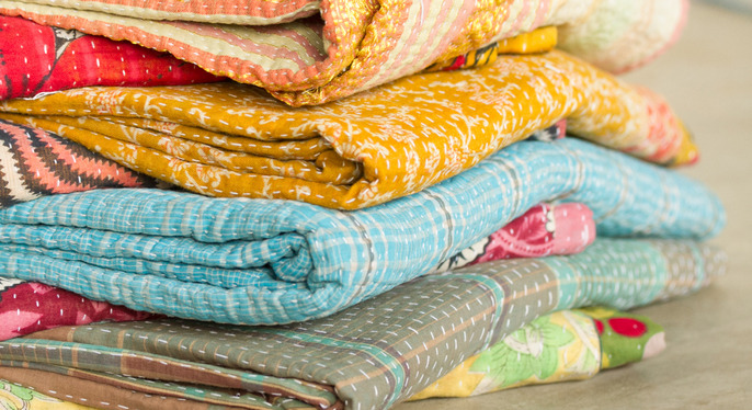 One-of-a-Kind Kantha Pillows & Throws at Gilt