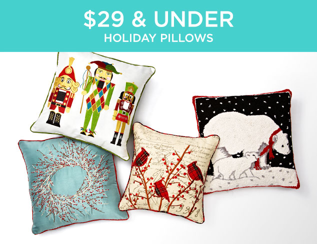 $29 & Under: Holiday Pillows at MYHABIT
