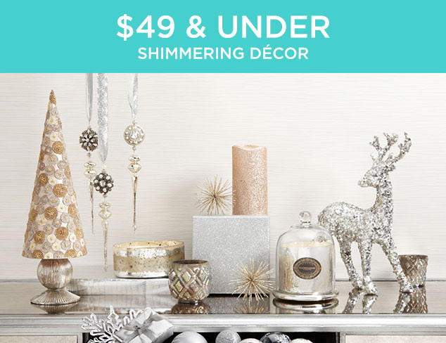 $49 & Under: Shimmering Décor at MYHABIT