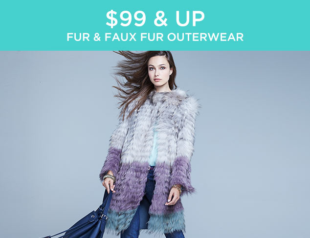 $99 & Up: Fur & Faux Fur Outerwear at MYHABIT