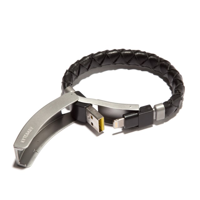 Kyte & Key Braided Leather Cabelet