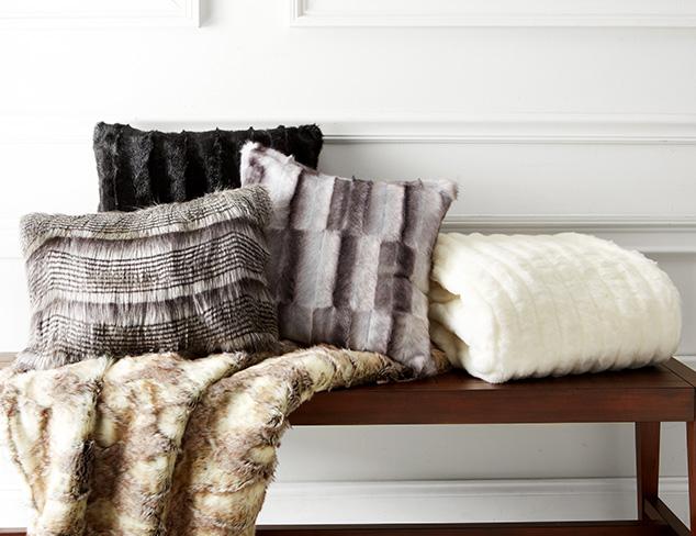 Faux Fur Indulgence: Throws & Pillows at MYHABIT
