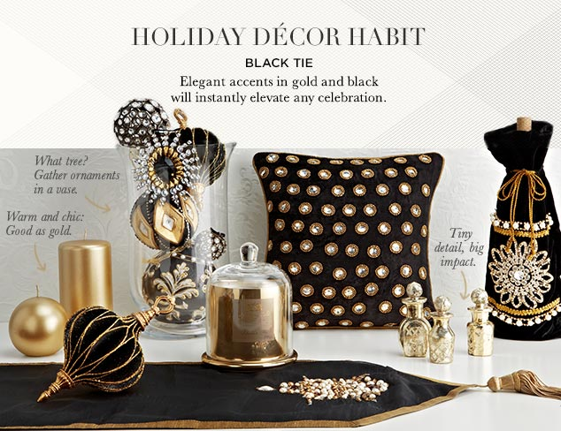 Holiday Décor Habit: Black Tie at MYHABIT