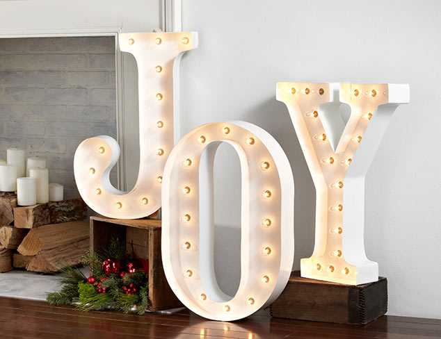 Joyful Vintage Marquee Lights at MYHABIT