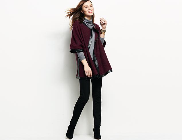 Katherine Barclay Vegan Leather Trim Jacket