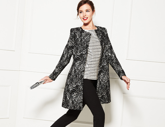 Party Essential: Polished Outerwear at MYHABIT