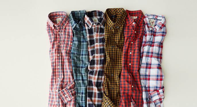 Plaid & Checked Button-Ups at Gilt