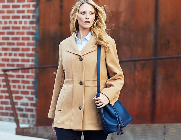 Ellen Tracy Plus Coat with Tulip Collar