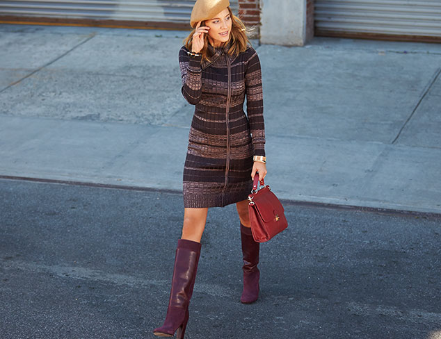 Marc New York Zip-Up Sweater Dress