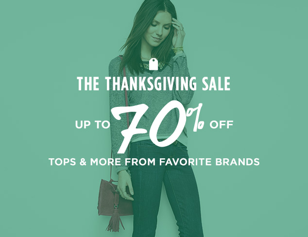 Up to 70% Off: Tops & More from Favorite Brands at MYHABIT