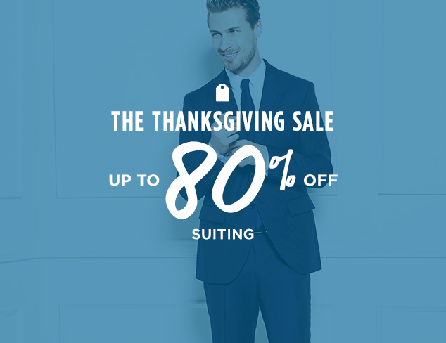Up to 80% Off: Suiting at MYHABIT