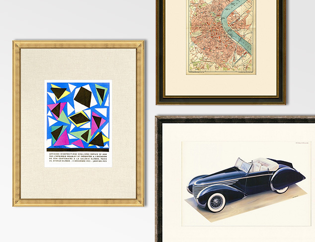 Vintage Prints: From Cars to Picasso at MYHABIT