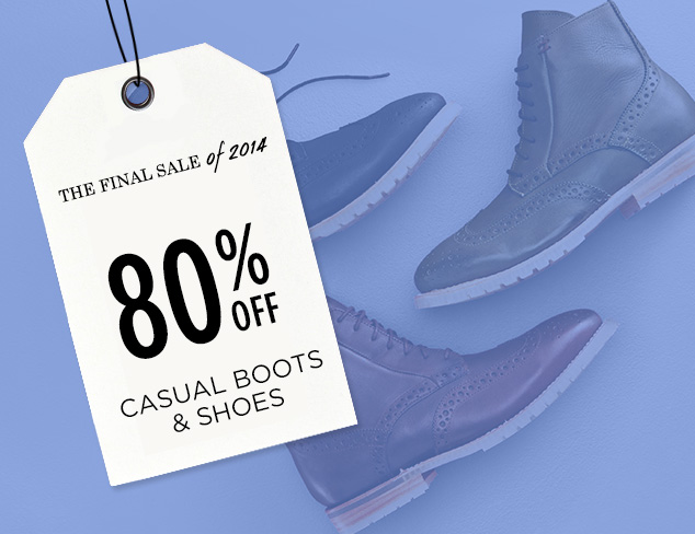 80% Off: Casual Boots & Shoes at MYHABIT