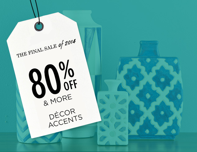 80% Off & More: Décor Accents at MYHABIT