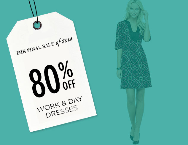 80% Off: Work & Day Dresses at MYHABIT