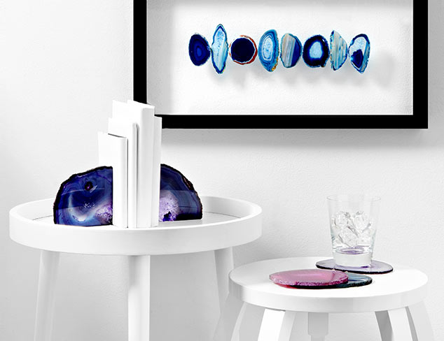 Geode Coasters, Bookends & Artwork at MYHABIT