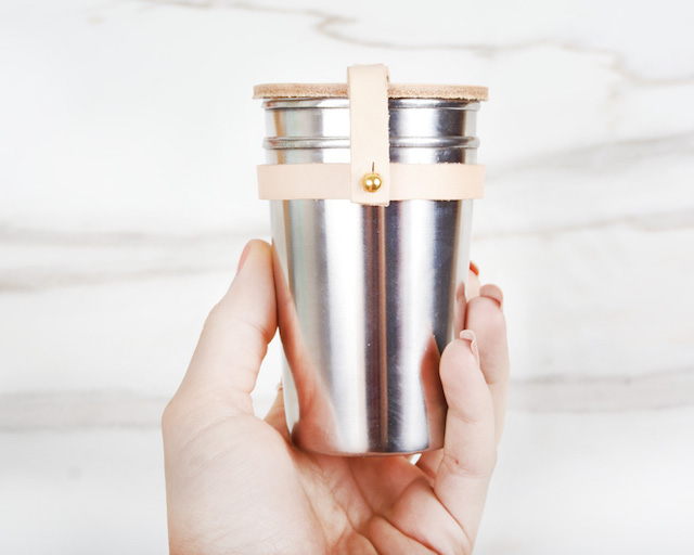 Leather & Steel Cup Set by Yield Design_3