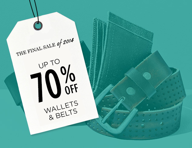 Up to 70% Off: Wallets & Belts at MYHABIT